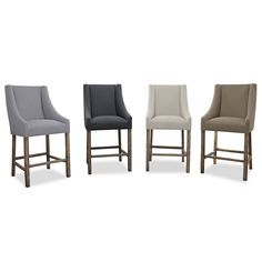 Channel modern design for your home through these sleek barstools. Their minimal, high quality construction quickly makes them a great addition to a room.