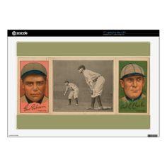 """Vintage Baseball Card - Pittsburgh Pirates, 1912 17"""" Laptop Skin"""