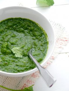 Mint and Coriander Chutney (Indian Green Chutney) - use as marinade,  for meat, stir in salads, spread in sandwiches, or use as a dip.