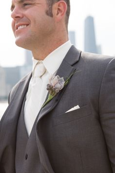 Grey on grey   Chicago Wedding at Cafe Brauer from Cristina G Photography  Read more - http://www.stylemepretty.com/illinois-weddings/2013/10/18/chicago-wedding-at-cafe-brauer-from-cristina-g-photography/