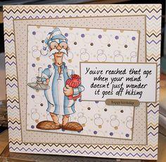 """Nightcap Derek"" digi stamp http://www.doctor-digi.com/digital-stamp-men/nightcap-derek ""Funny sentiments"" sheet 02 http://www.doctor-digi.com/sentiments/funny-sentiment-sheet-02 card by Ruth H http://weirdcatcardsnstuff.blogspot.co.uk/"
