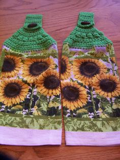 Set Of 2 Sunflower Hanging Kitchen Towels By CherisCrochetCottage, $7.00
