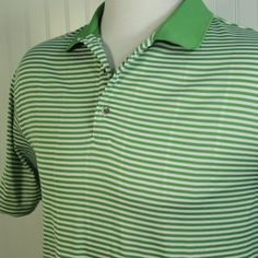 PING Performance Dynamics Spring Green Stripe Mens XL COOL Mesh Golf Polo Shirt  #Ping #PoloRugby