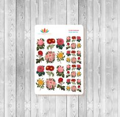 S024 - 36 Vintage Garden Planner Stickers by MioCartaPesta on Etsy