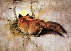 Red fox by Rien Poortvliet Wildlife Paintings, Wildlife Art, Animal Paintings, Animal Drawings, Fuchs Illustration, Fox Totem, Fox Spirit, Fantastic Mr Fox, Fox Art