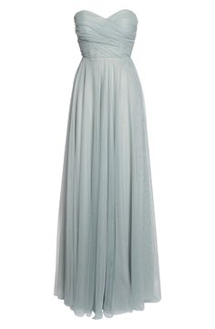 Julia Convertible Soft Tulle Gown, Alternate, color, Morning Mist Tulle Gown, Strapless Gown, Bridesmaid Dress Styles, Summer Dresses, Formal Dresses, Bodice, Fashion Dresses, Nordstrom, Gowns