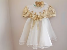 Size 18 months2T Vintage Toddler Girl Embellished by LittleMarin,