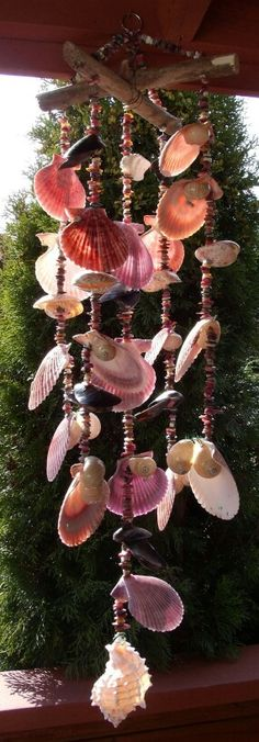 Wind chimes in pink and coral