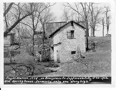 The Floyd's Station spring house in 1922. Photo by R. C. Ballard Thruston. Located in St. Mathews. The Filson Historical Society Special Collections.