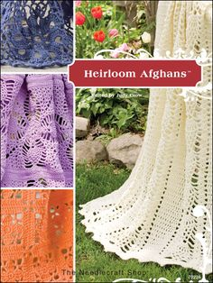 Create heirlooms to treasure with an appealing blend of easy afghan styles in a wide variety of yarns and color palettes from the world's premier afghan designers. From classic favorites transformed into new through different techniques and stitches, to breathtakingly vibrant jewel tone styles, this collection is a must for every crocheter. Skill Level: Intermediate to Experienced