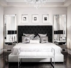 "1,229 Likes, 15 Comments - CADELL DESIGN INTERIOR (@cadelldesign) on Instagram: ""Recently edited this beautiful picture by Stallone Media, to get a look at the headboard in black…"""