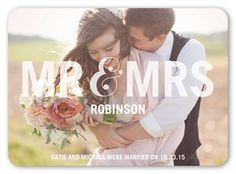 Social Titles 5x7 Stationery Card | Wedding Announcements | Shutterfly