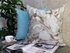 Ikat Aqua Pillow, Aq