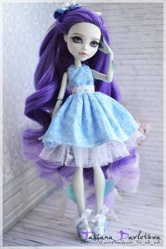 Monster High Clothes, Custom Monster High Dolls, Monster High Repaint, Monster Dolls, Custom Dolls, Ooak Dolls, Art Dolls, Sewing Barbie Clothes, Doll Painting