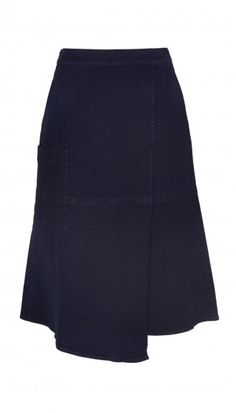 This season denim gets tailored. Pair Tibi's Denim Wrap Midi Skirt with a cozy knit or fitted crop top for a modern take on the classic fabric.