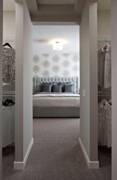 Walk through wardrobe to bedroom