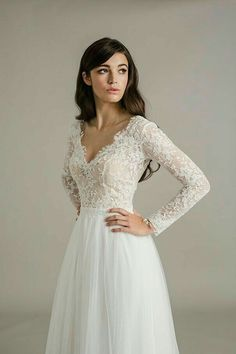 Wedding Gown. Long Sleeve. Lace.