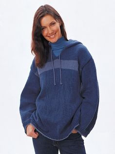 Hooded Sweatshirt | Yarn | Free Knitting Patterns | Crochet Patterns | Yarnspirations