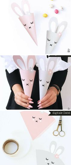 I like this idea for an Easter egg hunt the kids will soon be able to do! Cute design and simple to assemble, perfect! #easter #rabbit #ad #download #digital #printable #diy #holidays #oybpinners #pdf #easteregghunt