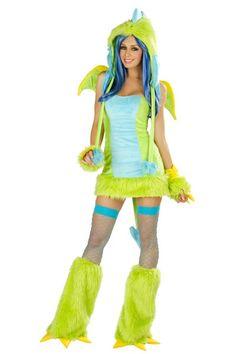 Green Puff Dragon Costume Dress @ Amiclubwear costume Online Store,sexy costume,women's costume,christmas costumes,adult christmas costumes,santa claus costumes,fancy dress costumes,halloween costumes,halloween costume ideas,pirate costume,dance costume,