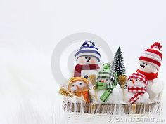 Christmas Snowman Family Card - Stock Photo - Download From Over 34 Million High Quality Stock Photos, Images, Vectors. Sign up for FREE today. Image: 26751693