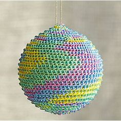 Global Thread Ball Ornaments in View All Ornaments   Crate and Barrel