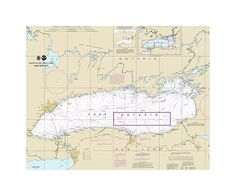 Lake Ontario Nautical Chart Sailcloth Print