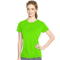 Women's Champion PowerTrain Heather Performance Tee, Size:
