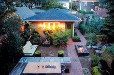 This Minneapolis backyard utilizes small spaces to make an urban oasis. Photo by Alex Steinberg