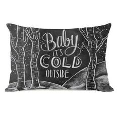 Baby, It's Cold Outside Lumbar Pillow