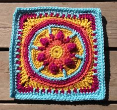"""Ravelry: Project Gallery for Tequila Sunrise 9"""" Afghan Block pattern by Margaret MacInnis"""