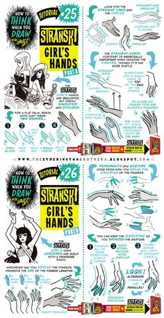 How to draw FEMALE AND GIRL'S HANDS tutorial by STUDIOBLINKTWICE on DeviantArt