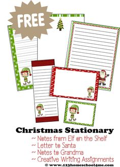 ♥♥ FREE Christmas Stationary ♥♥ This Holiday paper is perfect for notes from Elf on the Shelf, letters to Santa, letters to Grandma, and other holiday writing Christmas Writing, Christmas Note, Preschool Christmas, Christmas Paper, Christmas Activities, Christmas Ideas, Christmas Crafts, Xmas, Christmas Planning