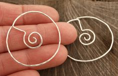 A new and different take on my spiral earrings! $28.00