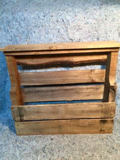 6 bottle wine rack that features a distressed wood! GORGEOUS piece! $50.00! can be hung on the wall, etc.!