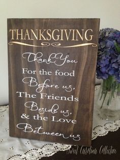 Thanksgiving Family Wooden Sign Holiday Home by SweetNCCollective