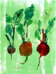Beets Print by redfishcircle on Etsy, $25.00