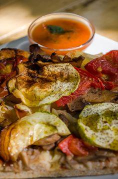 pită vegană cu legume