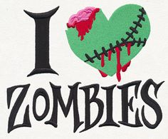 I Heart Zombies design (UT12023) from UrbanThreads.com - All sizes and Hand, October 17, 2015