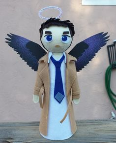 Castiel Angelic Christmas Tree Topper by OtherSideOfLuck on Etsy