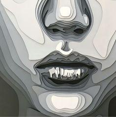 3d Paper Art, Graphisches Design, Recycled Art, Face Art, Traditional Art, Paper Cutting, Art Inspo, Sculpture Art, Concept Art