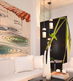 Hotel le A in the Golden Triangle of Paris is a gallery all its own. Look for paintings from Fabrice Hyber in every space as well as a design library downstairs.