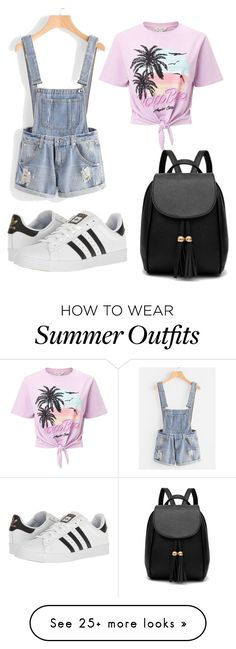 """Perfect Summer Outfit!"" by pink-lilli on Polyvore featuring Miss Selfridge and adidas"