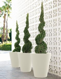 Shop modern outdoor planters at Design Within Reach. Many styles of modern planters at DWR. White Planters, Modern Planters, Large Planters, Outdoor Planters, Planter Pots, Vides, Low Maintenance Garden, Formal Gardens, Design Within Reach