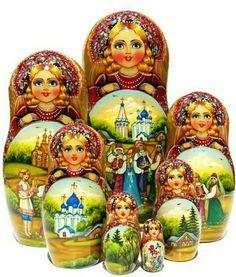 Matryoshka Story Nesting Dolls