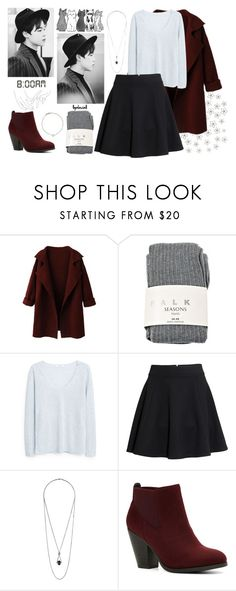 """""""8:00 AM ➳ Jimin"""" by llgalaxiall ❤ liked on Polyvore featuring Falke, MANGO, H&M, Topshop, Call it SPRING, Hello Darling, Roberto Coin, kpop, bts and jimin"""