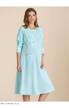 Νυχτικο Εγκυμοσυνης με Κουμπια   Closet22