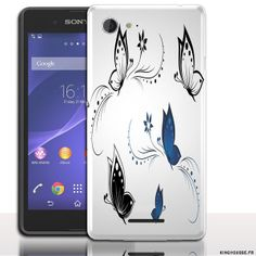 Coque portable Sony E3 Papillons - Fiche Technique Xperia E3 Housse rigide. #Coque Xperia #Sony E3 #Papillons #butterflyes