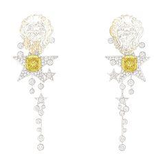 """""""Sous le signe du lion"""": une collection de haute joaillerie signée Chanel Boucles d'oreilles Constellation du Lion"""