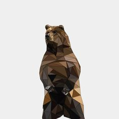 Geometric Animals - The Bear by Eldrism , via Behance